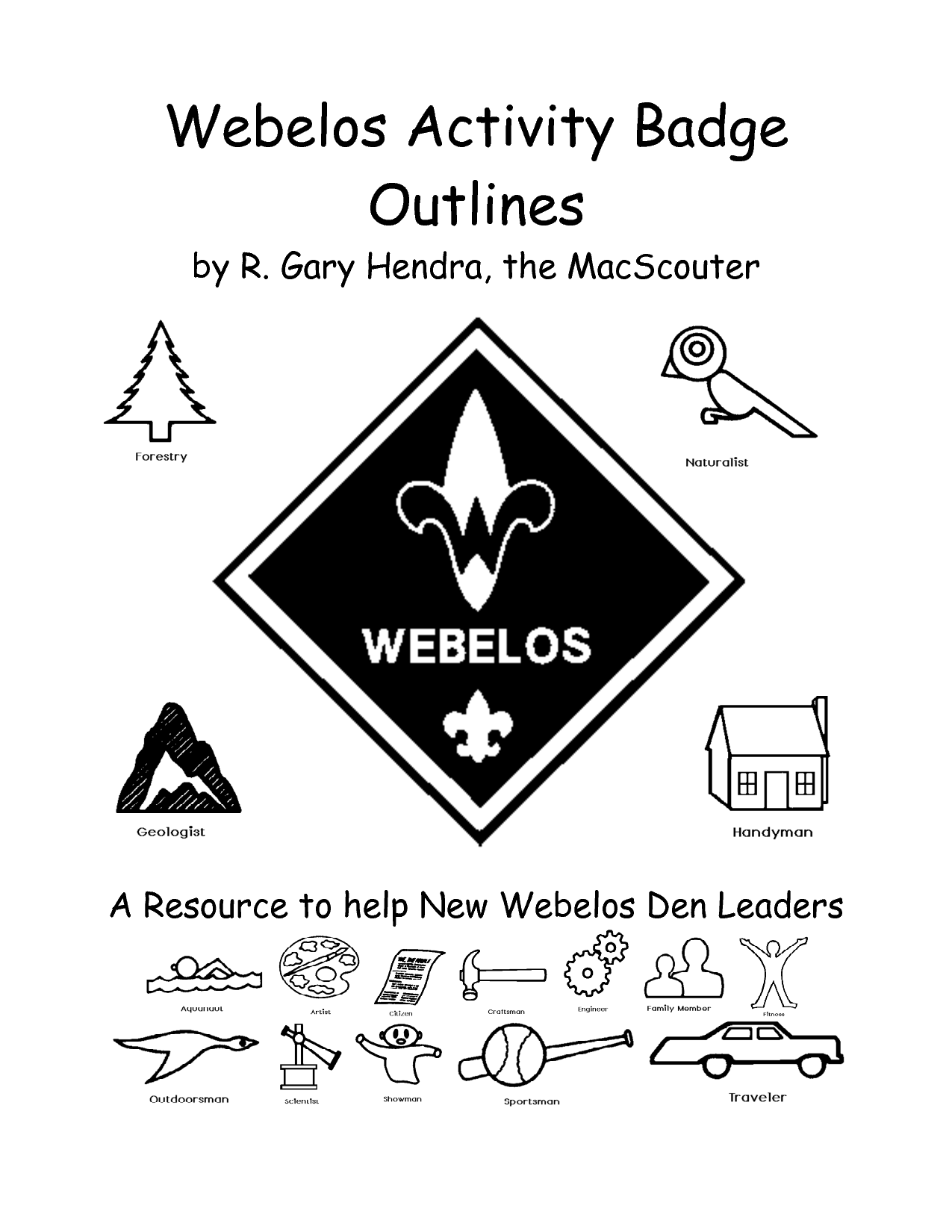 Cub Scout Worksheets – Webelos Fitness Badge Worksheet