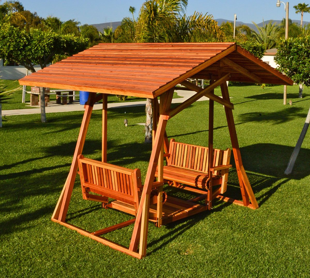 dustin u0027s face to face swing options redwood xxw roof without