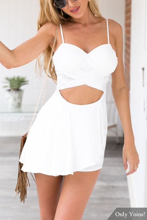 812ec966f7 You ll want to give this playsuit high priority on your wish list. It is  designed with sleeveless