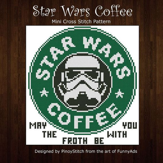 Hey, I found this really awesome Etsy listing at https://www.etsy.com/listing/178712065/star-wars-coffee-cross-stitch-pdf-chart