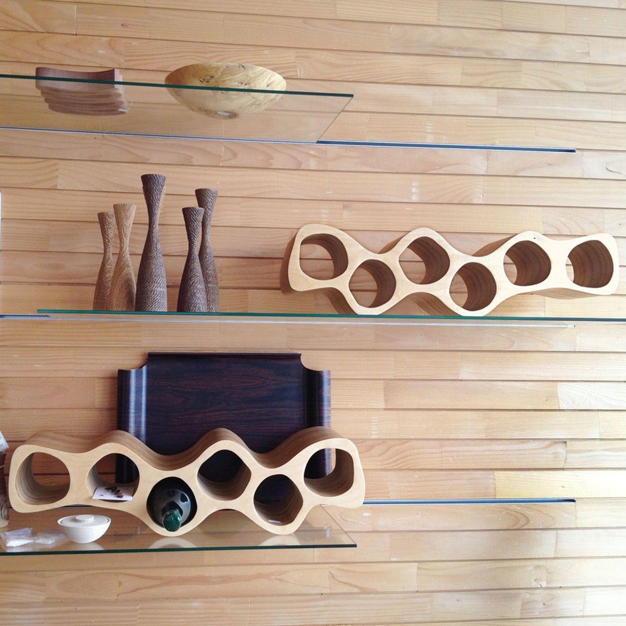 Design Weinregale das weinregal otto aus birkenschichtholz ist ein blickfang für
