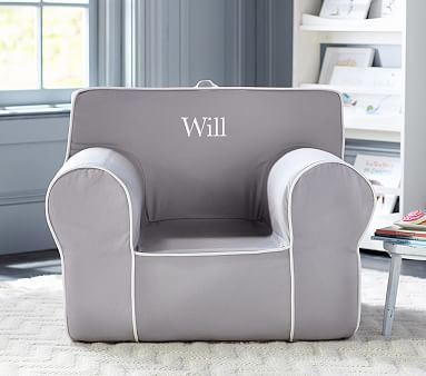 Oversized Anywhere Chair Grey With Jacob In Typewriter All