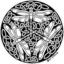 Celtic Dragonfly Knot With Images Celtic Animals Mandala Coloring Pages Celtic Art