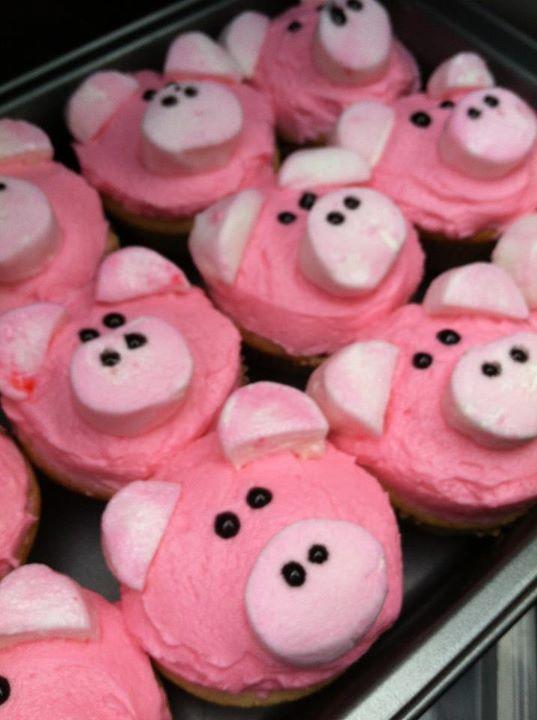 Cool Piggly Wiggly Piggy Cupcakes Eat Dessert First Eat Dessert Personalised Birthday Cards Vishlily Jamesorg
