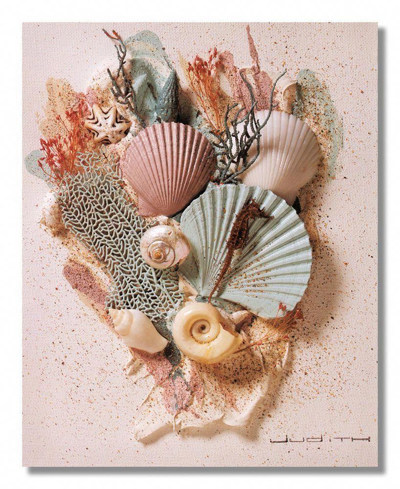 Ocean starfish sea shell beach bathroom 2 wall picture