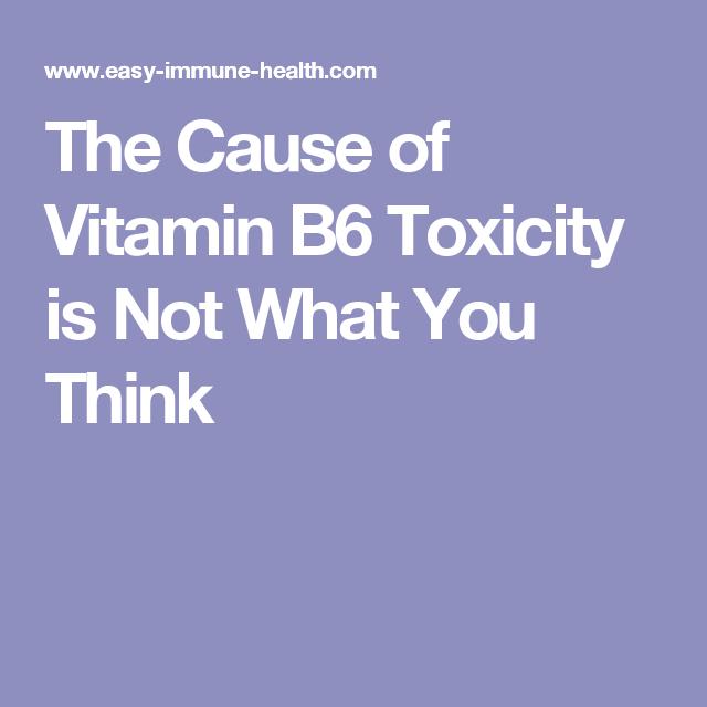 Vitamin: Side Effects Of Vitamin B6 Overdose