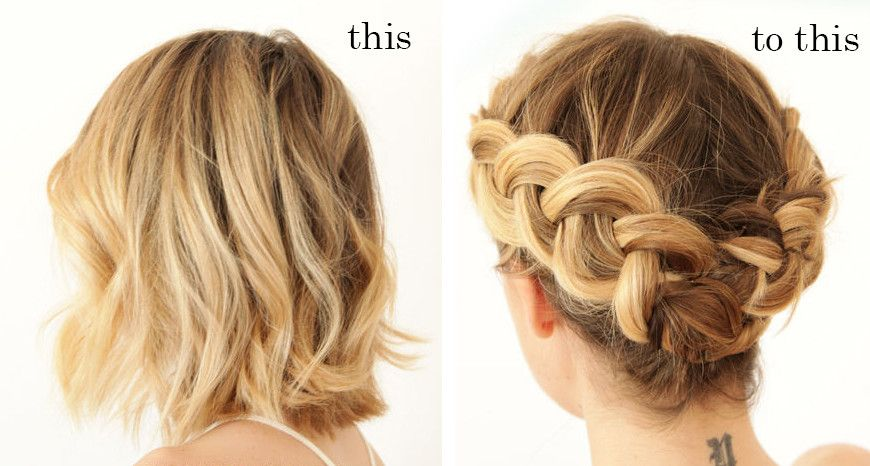 Dutch Braid Updo For Short Hair Braids For Short Hair Braided Updo For Short Hair Short Hair Updo