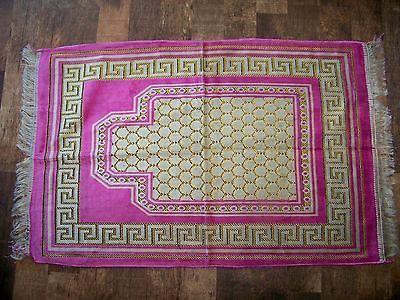 Prayer Rug Made in Turkey New Pink White