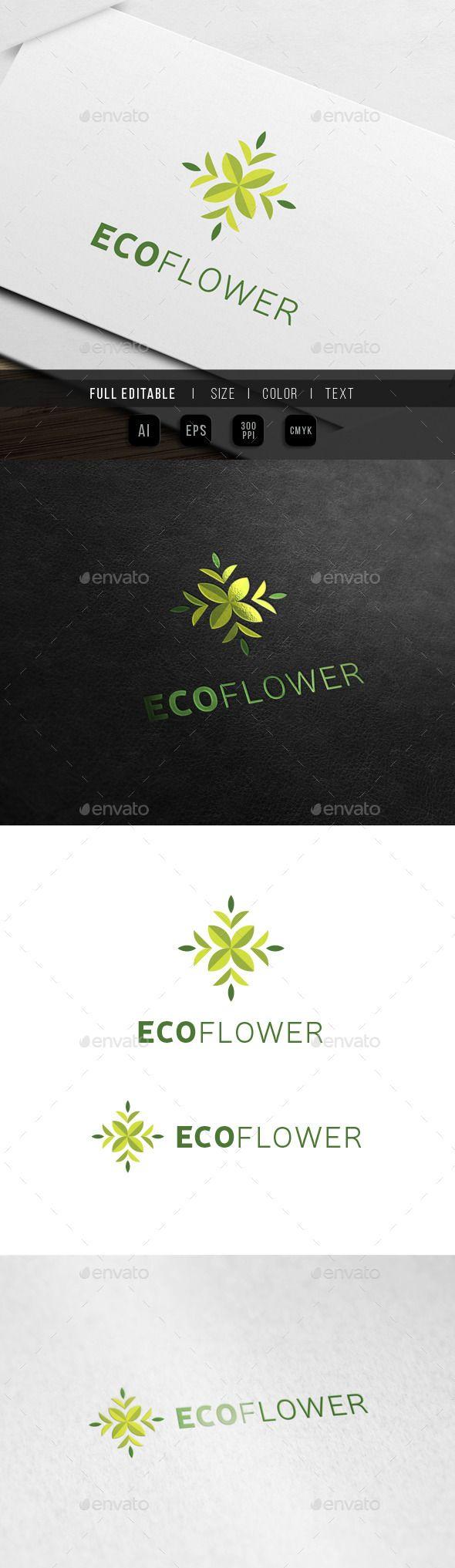 Eco Flower Floral Art Eco Flower Logo Templates And Art Logo
