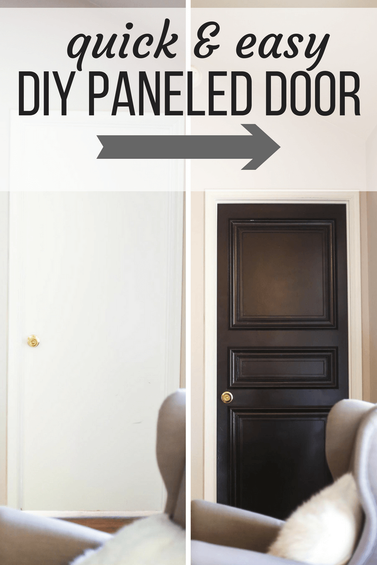 How To Make A Diy Door Panel Take An Old Hollow Core Door And Turn