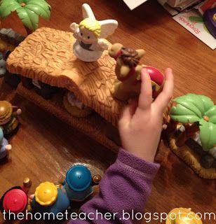 Little People Nativity Scavenger Hunt Family Home Evening.
