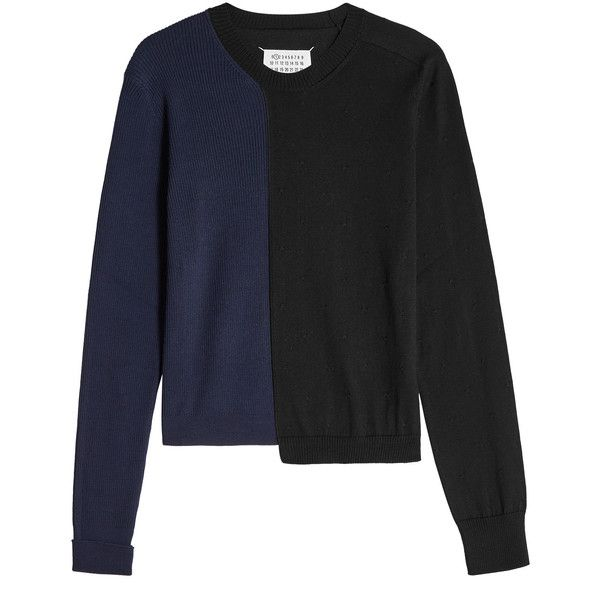 Maison Margiela Asymmetrical Cotton Pullover (£245) ❤ liked on ...