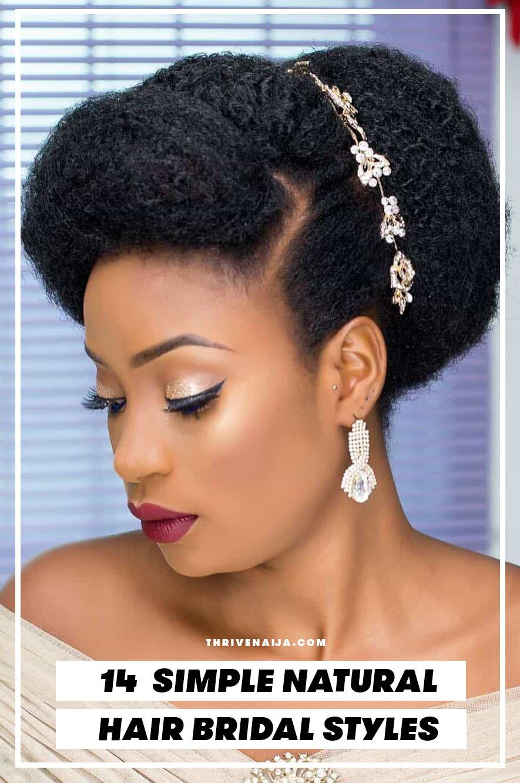 14 Natural Hair Bridal Styles You Can Replicate Thrivenaija In 2020 Natural Hair Styles Natural Hair Bride Natural Hair Wedding