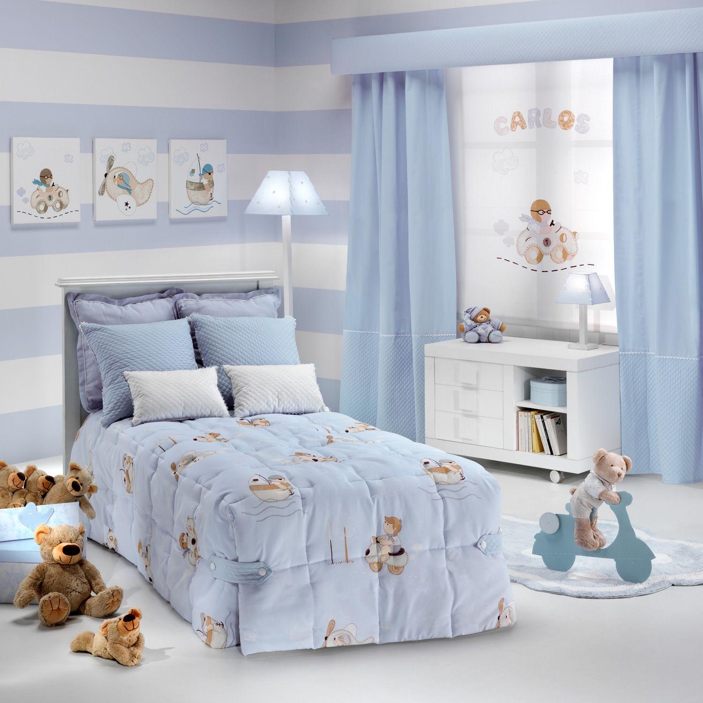 Telas para cortinas infantiles y ropa de cama habitaci n for Decoracion habitacion nino