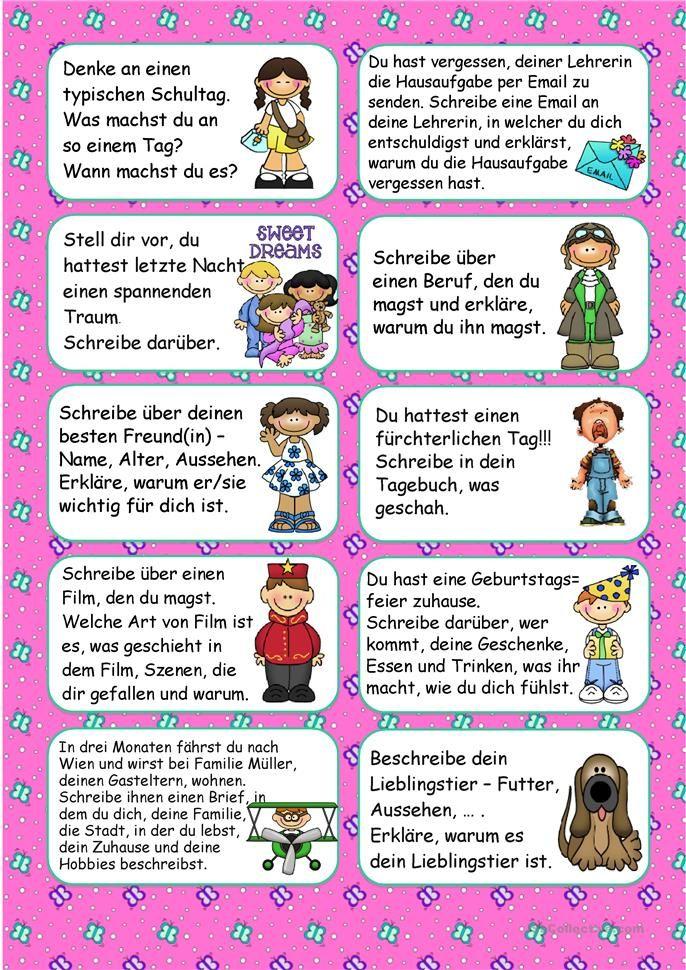 20 Schreibideen für März | Deutsch | Pinterest | Homeschool and ...