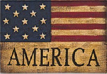 Burlap America Flag Sign