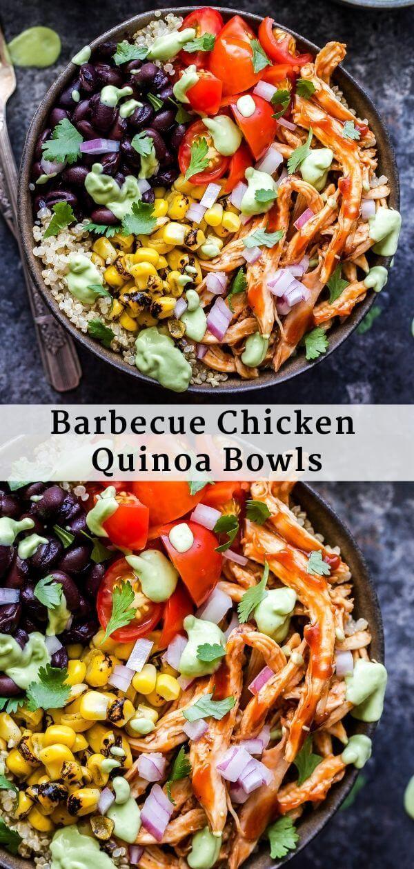 Barbecue Chicken Quinoa Bowls - Recipe Runner