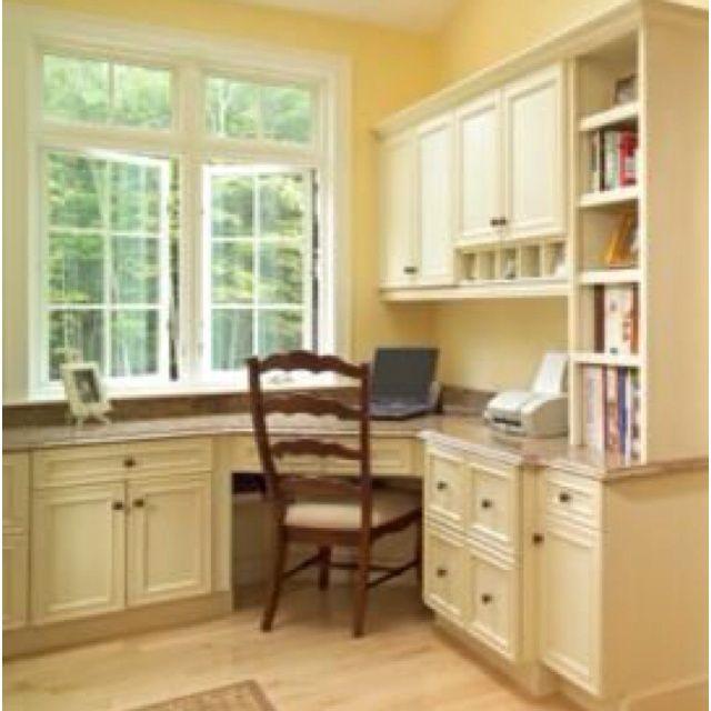 1000 Images About Built In Desk Amp Bookshelf On Pinterest Corner Desk Office Home Home Office Design