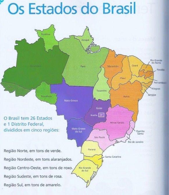 Super Mapa do Brasil e Capitais – Trabalho de escola YV58