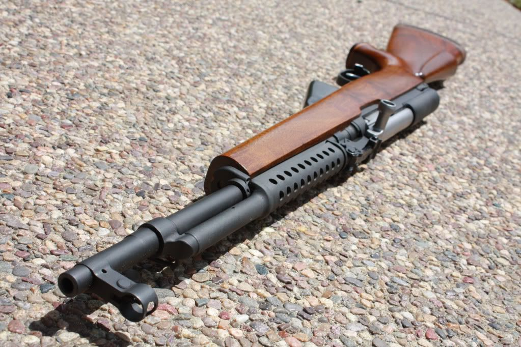 Wonderful Great Looking SKS With Parkerized Furniture An Custom Wood Stock.