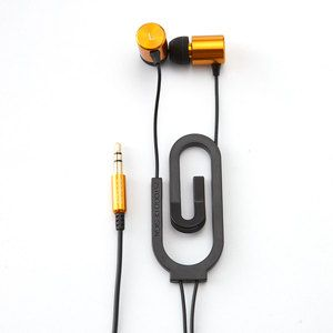 Paperclip Earbuds Gold Now Featured On Fab Geek Gadgets Paper Clip Earbuds