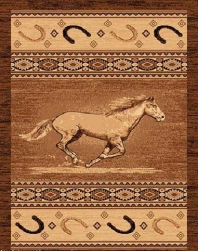 4 X 6 Western Running Horse Area Rug Bohemian Pinterest Rugs