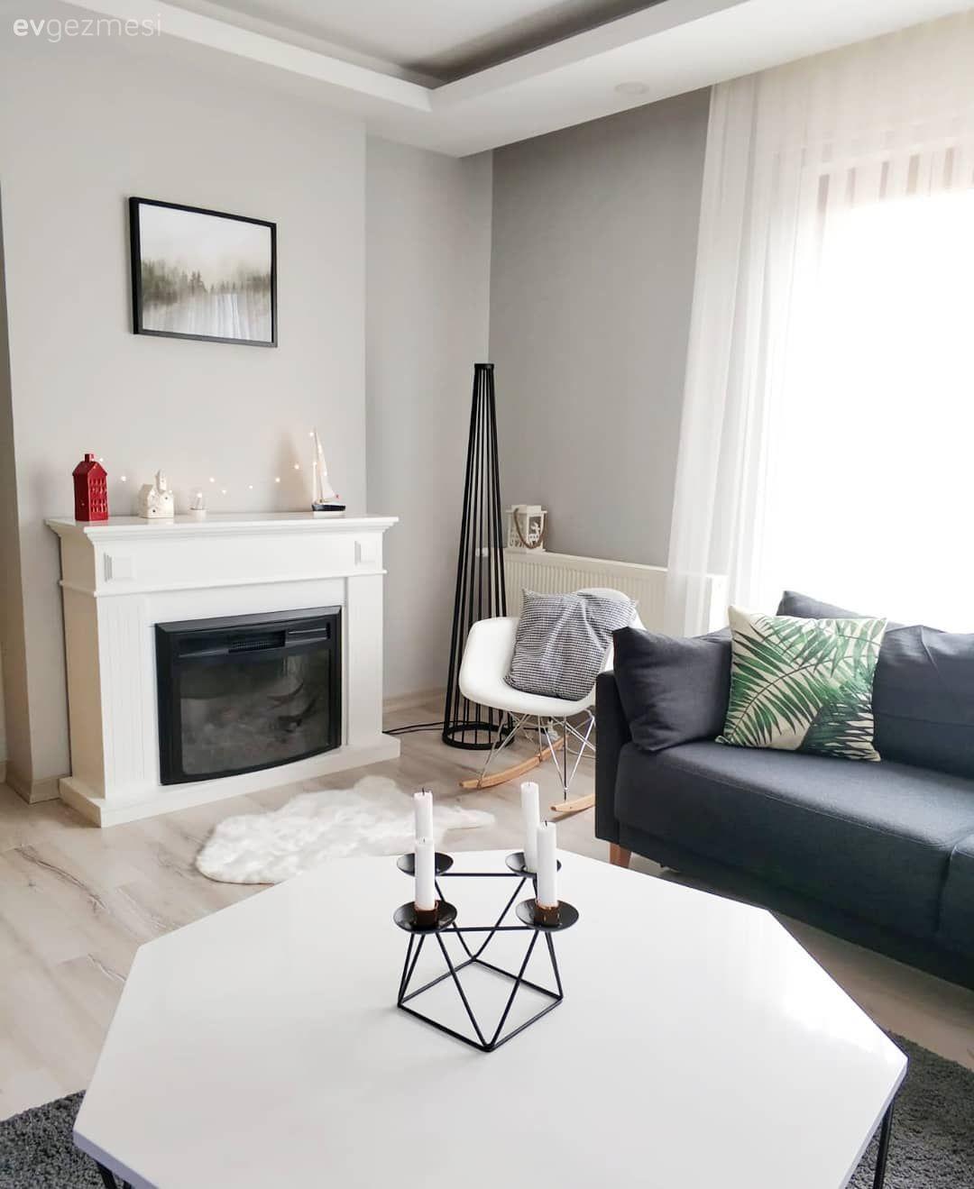 Bu Evin Modern Cizgisi Harika Detaylarla Kisisellesmis Ev Gezmesi Oturma Odasi Tasarimlari Oturma Odasi Dekorasyonu Evler