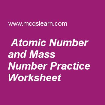 Atomic Number And Mass Number Practice Worksheet Science