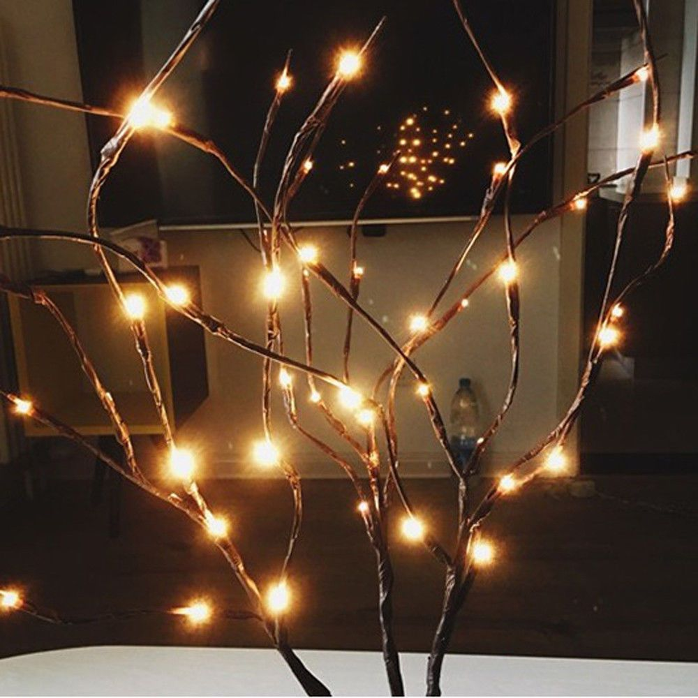 4 57 Led Willow Branch Lamp Floral Lights 20 Bulbs Home Christmas Party Garden Decor Ebay Hom Lighted Branches Lighted Tree Branches