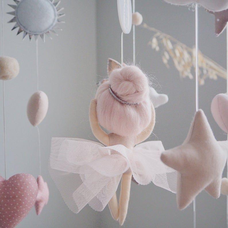Ballerina Mobile Ballet Butterfly Mobile Swan Mobile Baby Mobile Girl Baby Shower Gift Moviles Para Niños Decoración De La Habitación Del Bebé Diseño De La Habitación