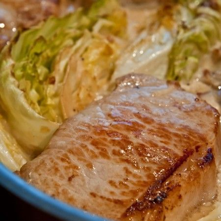 SANE Dinner Recipe Bacon amp Cabbage Chops - The Calorie Myth by Jonathan Bailor,... - SANE Dinner