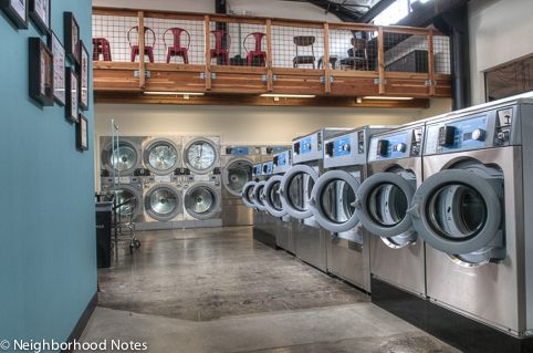 Now Open In Portland Spin Laundry Lounge Neighborhood Notes Laundry Shop Laundry Design Laundry Business