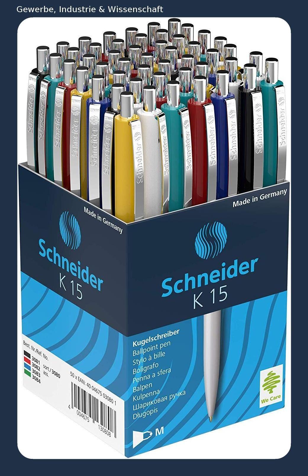 Schneider Kugelschreiber K15 Schreibfarbe Blau 50 Stuck