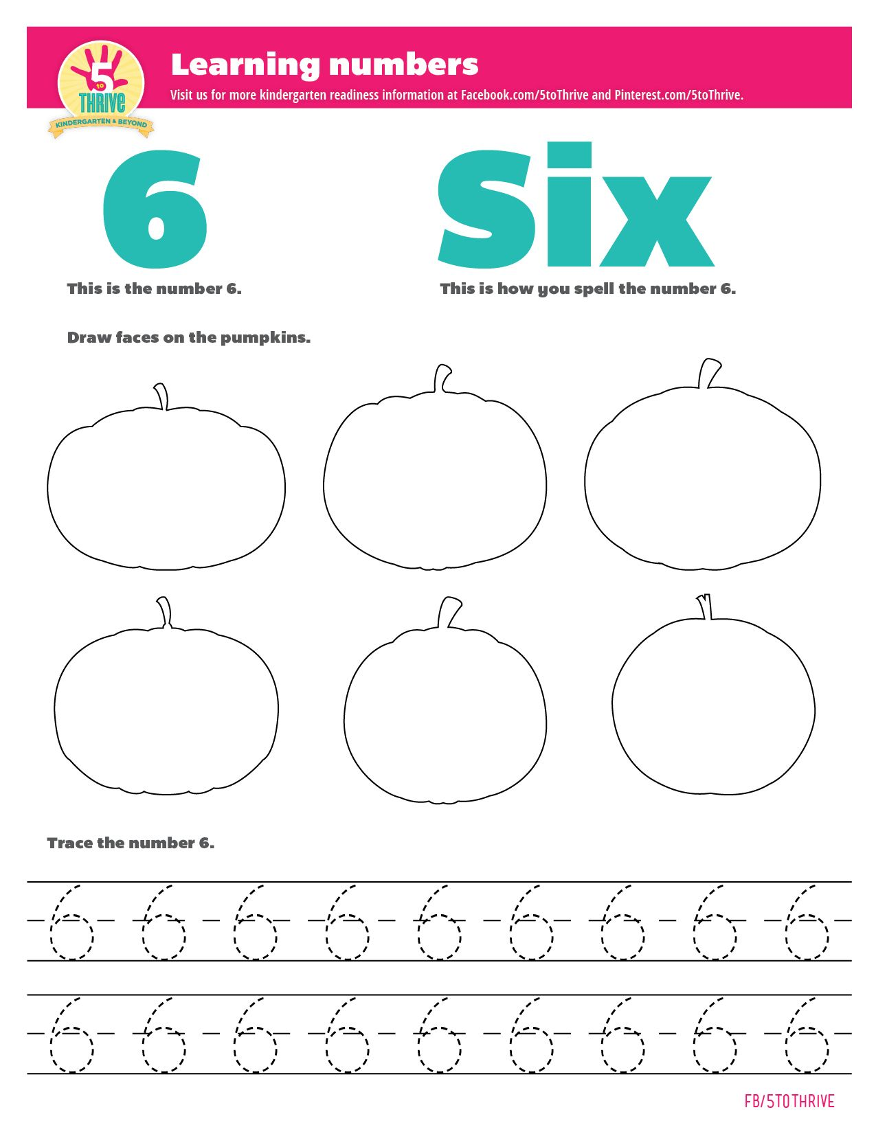 Learning Numbers This Is What The Number 6 Looks Like This Is How You Spell The Number Six