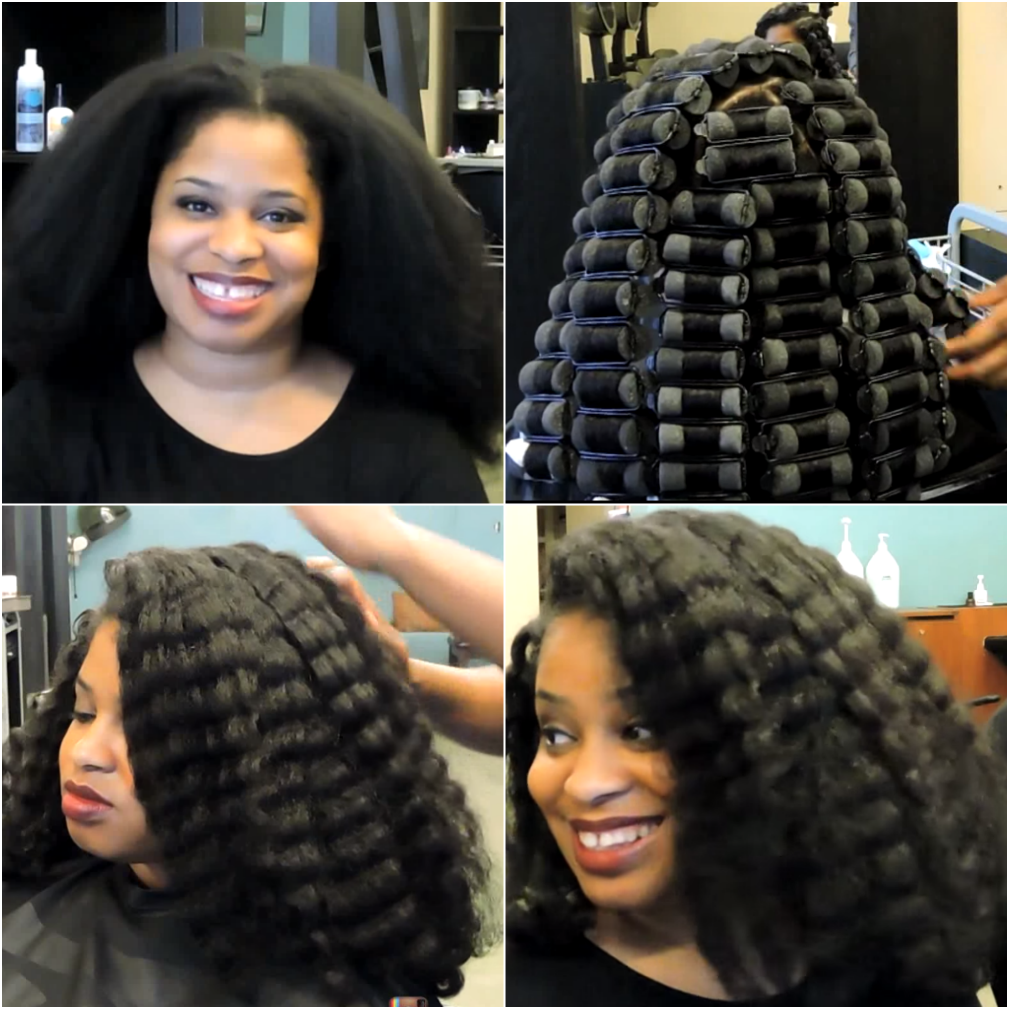 no heat natural hairstyle | how to create a wave rollerset on