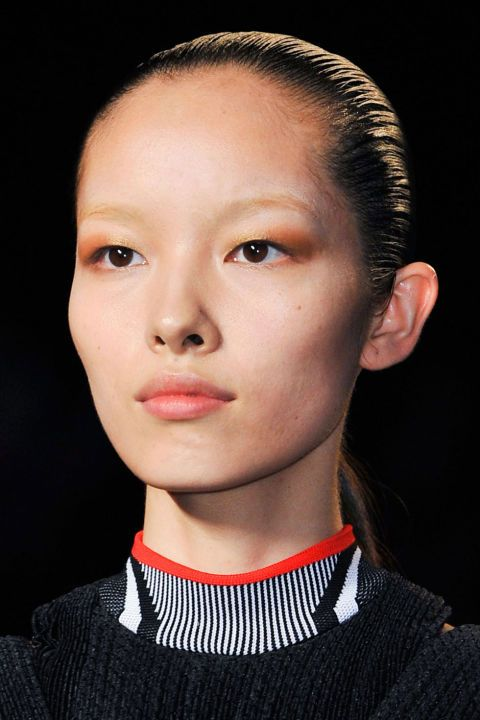 Invisible brows, seen at Alexander Wang: one of 7 bold eye makeup trends to try this summer. The spring 2015 runway's hottest lids weren't meant to be subtle.