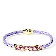 Butler & Wilson Crystal Bar Plait Cord 16.5cm Bracelet