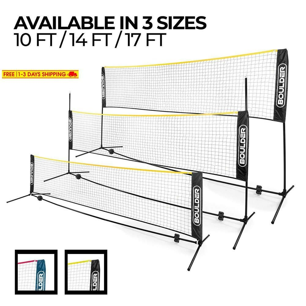 Advertisement Ebay Boulder Portable Badminton Net Set Net For Tennis Soccer Tennis Pickleball Badminton Nets Soccer Tennis Kids Volleyball