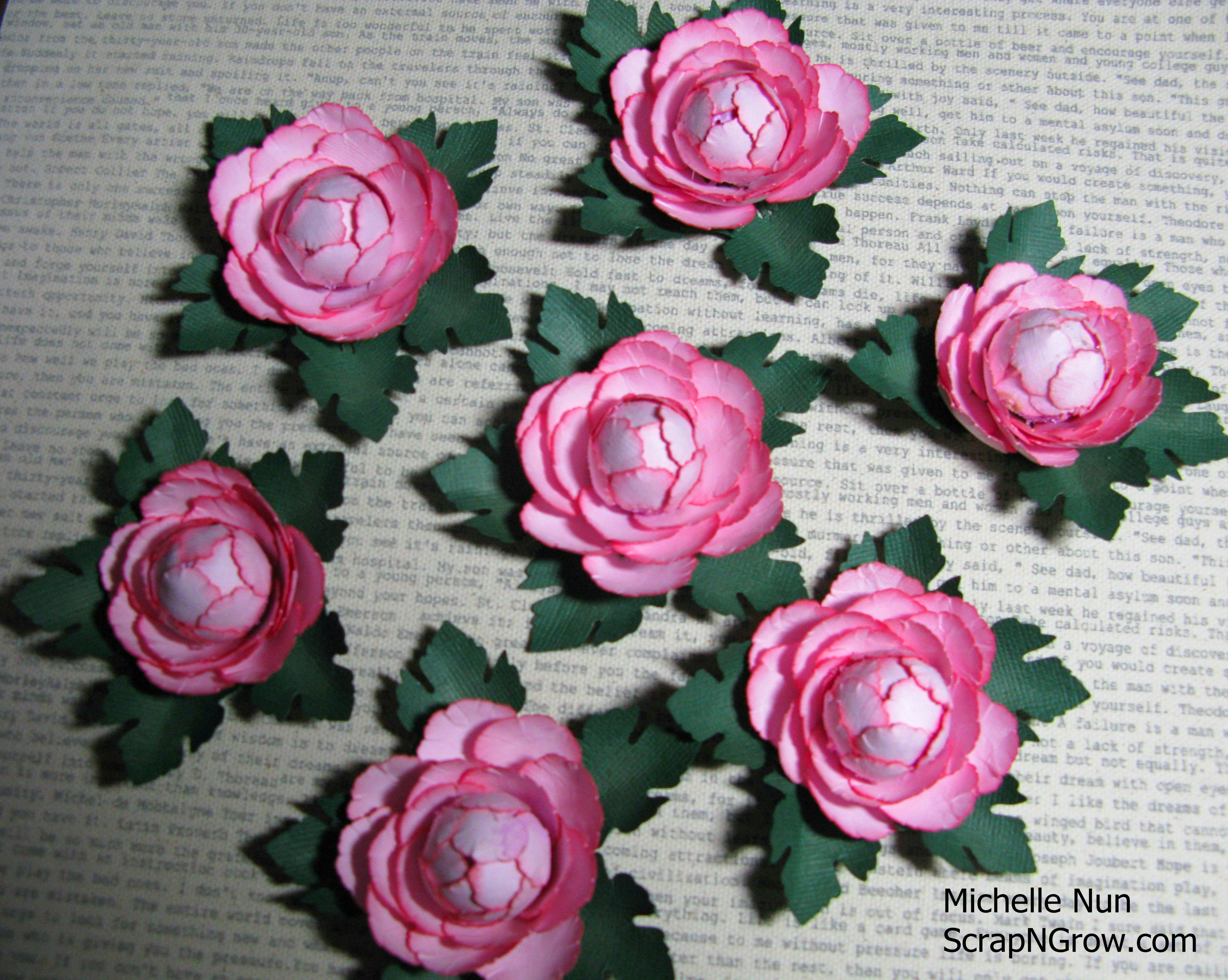 Peonies Made Using Various Mcgill Paper Blossom Punches Paper