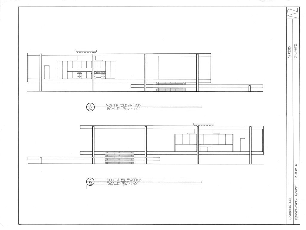 Farnsworth house harrington etcetera pinterest for Farnsworth house floor plan