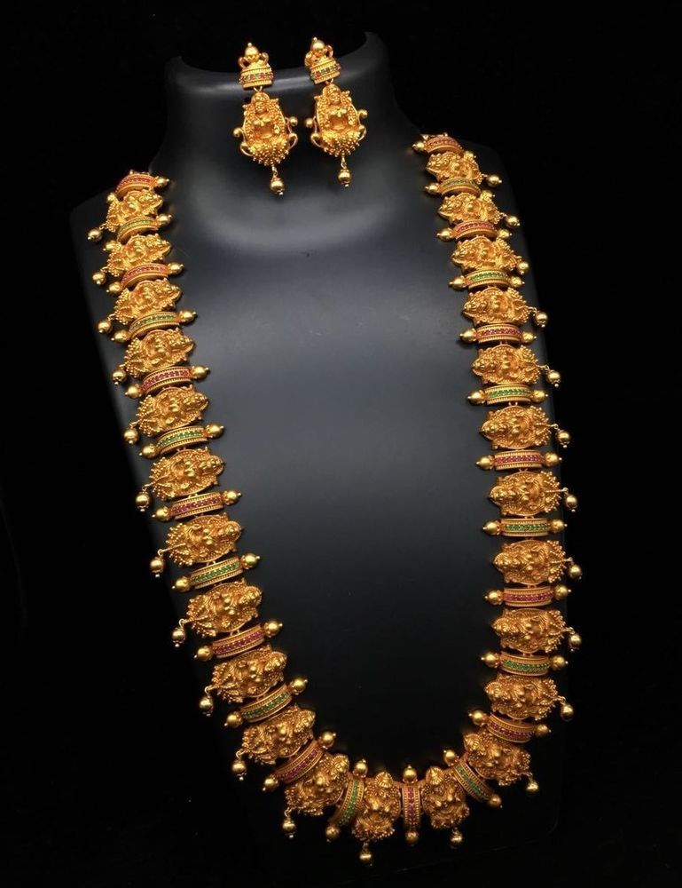 Indian Bollywood Micro Gold Plated Antique Bridal Necklace Women Jewelry Set  1 | Gold necklace indian bridal jewelry, Bridal jewelry necklace, Bridal  gold jewellery