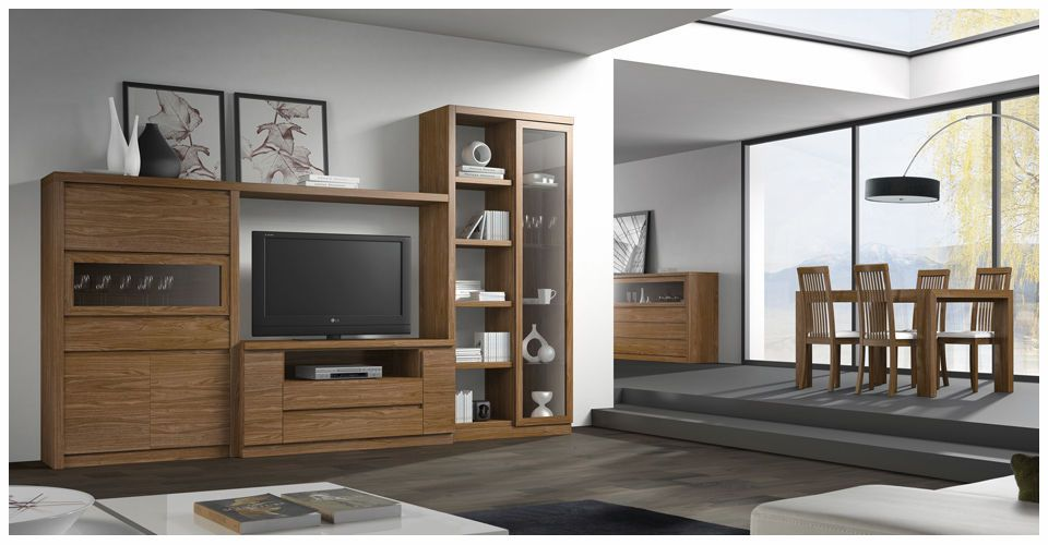Mueble de tv moderno mueble tv pinterest muebles de for Mueble compacto tv