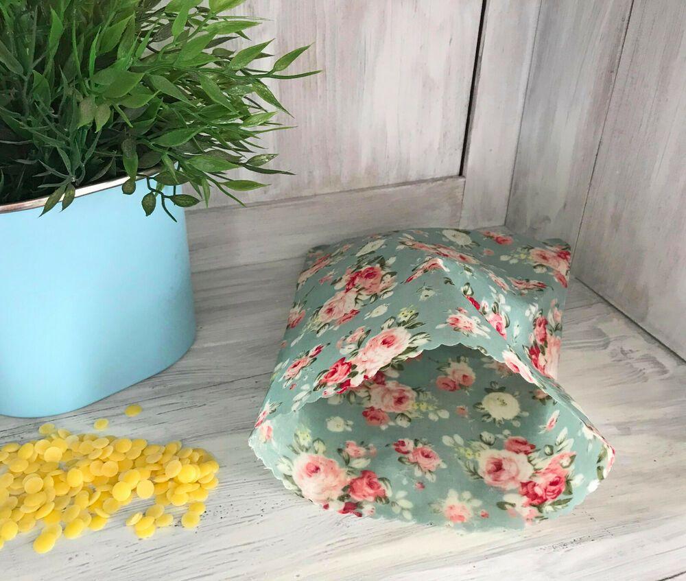 Bio Bienenwachstuch Lunchbag Snacktüte zero waste gift null Müll Wachstuch wax