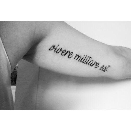 Tattoo vivere militare est 351 Cool
