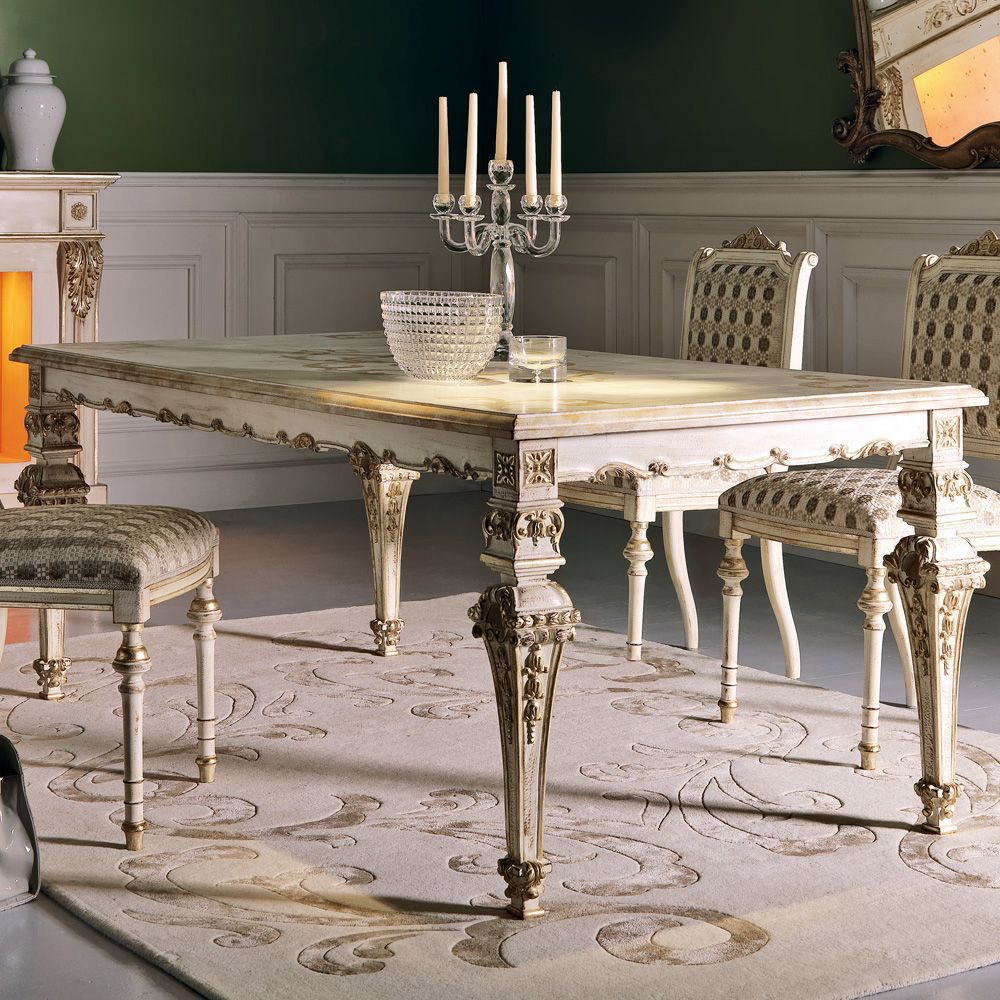 Ornate Italian Louis XIV Dining Table | Dining table ...
