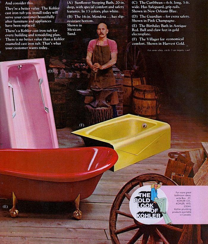 Kohler Cast Iron Bath Tubs Ad 1975 Cast Iron Bath Cast Iron Bathtub Cast Iron Tub