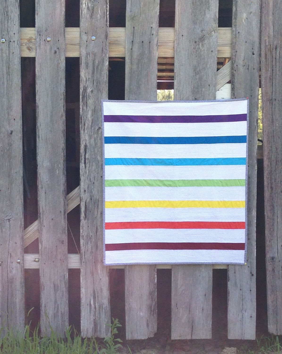Modern Color Bars Baby quilt by NotionsFiberWorks on Etsy https://www.etsy.com/listing/232250750/modern-color-bars-baby-quilt
