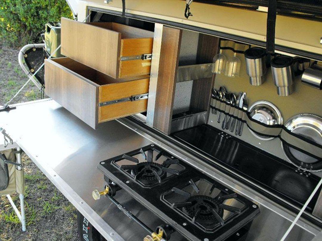 36 amazing camper trailer kitchen storage design you need