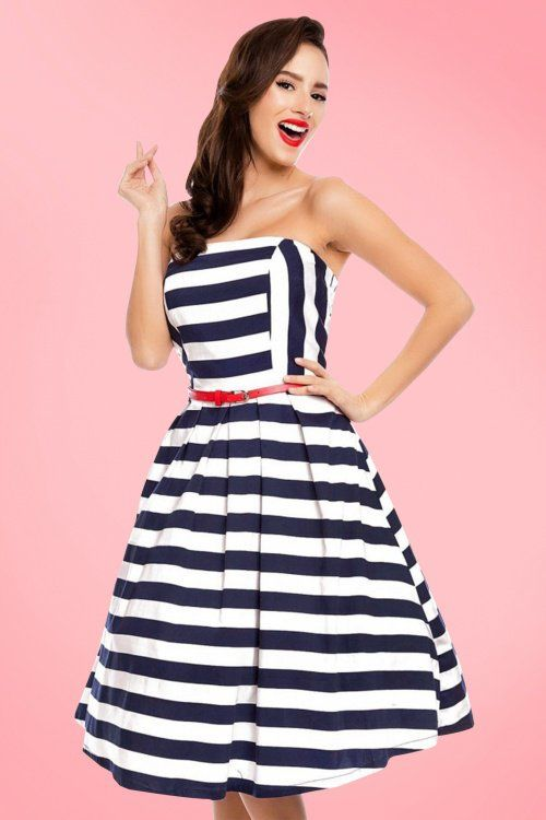 9624f79583 Dolly and Dotty Strapless Striped Swing Dress 102 59 20728 20170216 ...