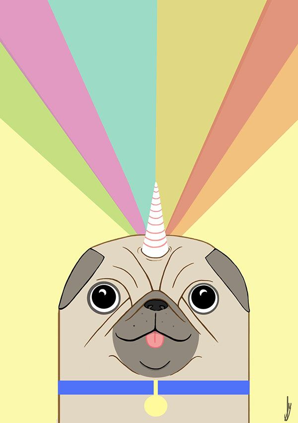 Pug Unicorn Pug Cartoon Cute Pugs Cartoon Dog